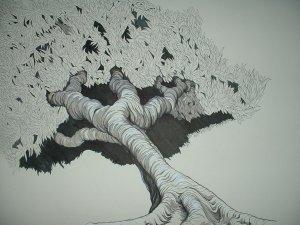 """Drawing Entitled """"Spinoza"""" by Rob Original"""
