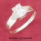 Cubic Zirconia Radiant Cut Ring