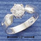 Cubic Zirconia 6 MM Round with Pointed Shank
