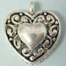 Heart Charm -- Puffy -- CLEARANCE 1/2 OFF