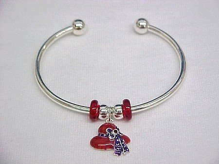 Red Hat Bangle Bracelet -- Clearance 1/2 Off + Free Shipping