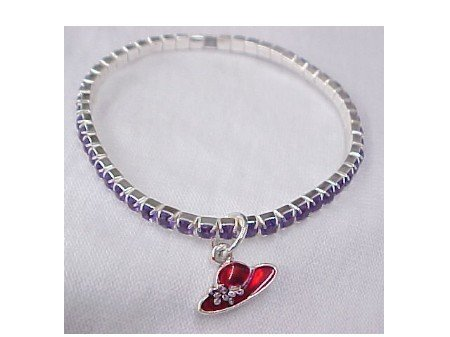 Red Hat Crystal Bracelet Clearance 1/2 off + Free Shipping