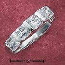 Cubic Zirconia Princess Tension Band