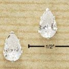 Cubic zirconia 8mm Tear Drop Earrings