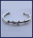 Sterling Silver Moored Cuff Bangle