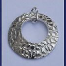 Sterling Silver Animal Print Concave Circle Pendant Pey322