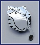 Sterling Silver Mask Cat Brooch