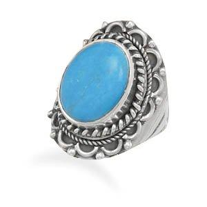 Oxidized Turquoise Ring