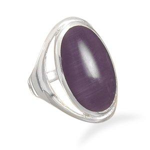 Purple Cat's Eye Ring