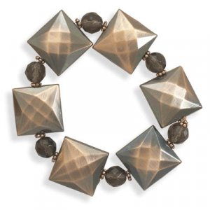 Glass and Copper Fashion Bracelet