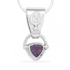 "18"" Necklace with Amethyst Pendant"