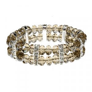 Smokey Gray Cuts and CZs Bracelet 45589