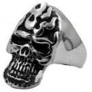Biker Ring Skull in Stainless Steel 1317