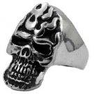 Biker Ring Skull in Stainless Steel 1317