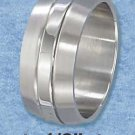 Stainless Steel Double Lined 9 mm Band