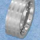 Stainless Steel 9mm Laser Etched Striped Band