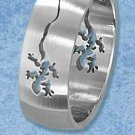 Stainless Steel Gecko Cut Out Design 8mm Band