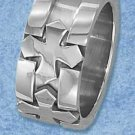 Stainless Steel Sunken Cross 11mm Band