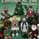 Country Christmas Sit 'Ems Shelf Sitters Plastic Canvas
