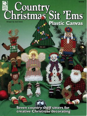 Country Christmas Sit �Ems Shelf Sitters Plastic Canvas