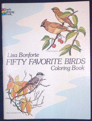 Fifty Favorite Birds Coloring Book (Dover Coloring Book), Softcover