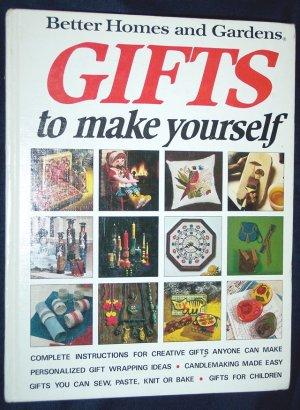Better Homes & Gardens Gifts To Make Yourself, Vintage Crafts, Hardback