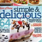 Taste of Home Simple & Delicious cooking magazine July/Aug 2008