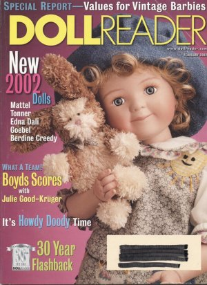 Doll Reader Doll Collector Magazine February 2002
