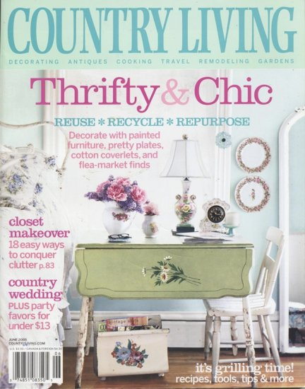 Country Living Home and Garden Magazine June 2005