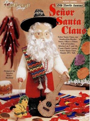 Old World Santa Senor Santa Claus Plastic Canvas Pattern, New