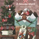 Christmas A-Moose-Ment Holiday Decorations Plastic Canvas, New