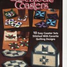 Quilt Block Coaster Plastic Canvas Pattern Book New