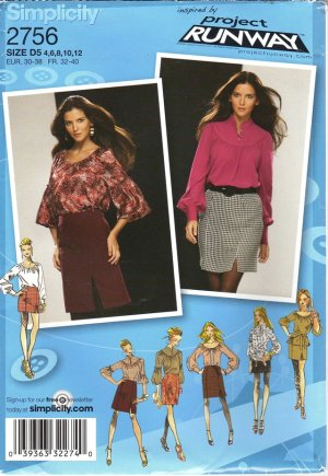 Misses Skirt Pattern, Simplicity Project Runway Series, Size 4-12 2756 NEW