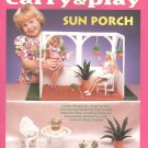 Barbie Fashion Doll Carry & Play Sun Porch Plastic Canvas NEW