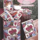 Victorian Rose Accessories, Home Decor Floral Designs, Plastic Canvas  NEW