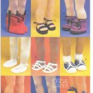 "Doll Shoes To Sew 18"" (46cm) Dolls, Magic Attic, American Girl, Vogue Craft 7329"