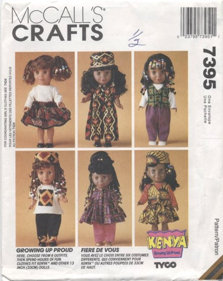 Kenya Doll Clothes Pattern, 13� (33cm), NEW 7395