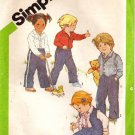 Toddler Shirt, Pull On Pants, Reversible Vest Pattern, Size 1 UNCUT