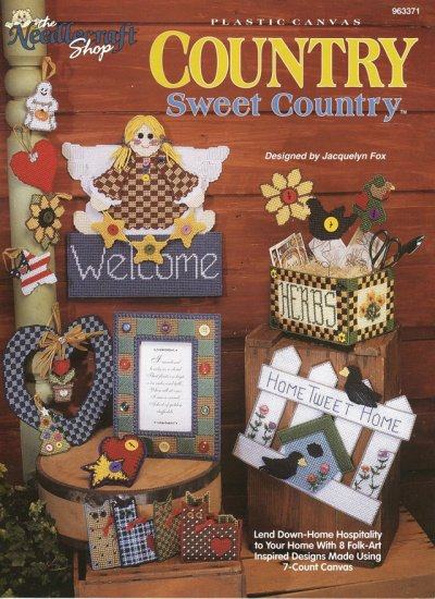 Country Sweet Country Plastic Canvas Home Décor Booklet