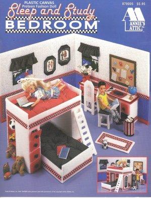 Barbie Sister Skipper Sleep and Study Bedroom Plastic Canvas Pattern Book