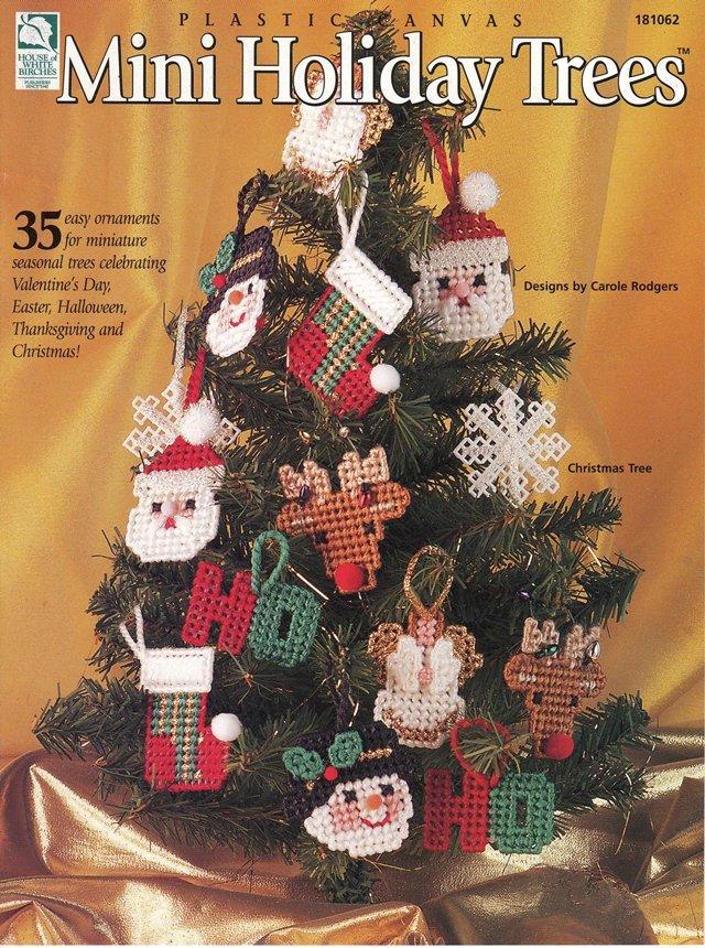 Mini Holiday Trees Pattern Plastic Canvas