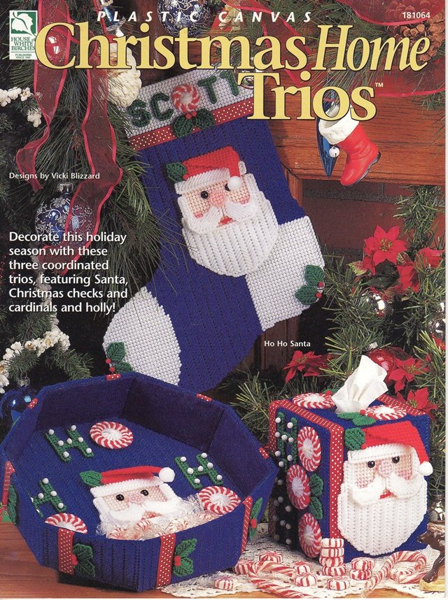 Christmas Home Trios Plastic Canvas Pattern Book
