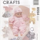 "Baby Doll Wardrobe Size 8""-16"" (20.3cm-40.6cm) McCall's Crafts 8554  NEW"