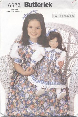 Soft Doll and Dress 23� (58.4cm) Butterick 6372  NEW