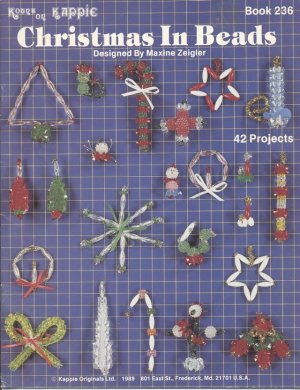 Christmas In Beads, Maxine Zeigler, Holiday Ornaments No. 236