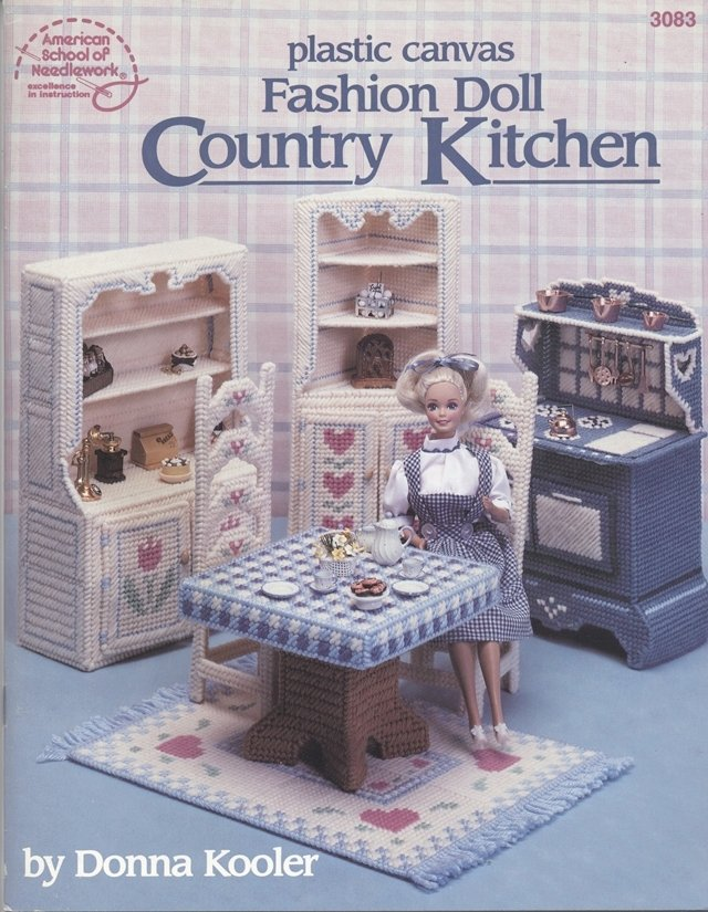 Barbie, Fashion Doll Country Kitchen, Plastic Canvas Pattern Book 3083