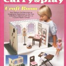 Barbie, Fashion Doll, Carry & Play Craft Room, Plastic Canvas Pattern Book 933731