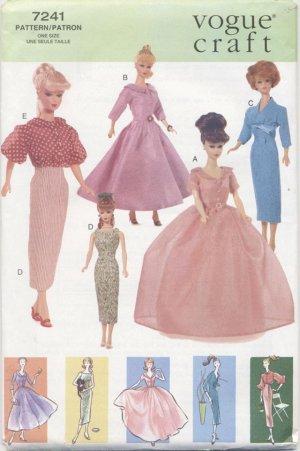 Barbie, 60's Retro Fashions, Vogue Craft 7241  NEW