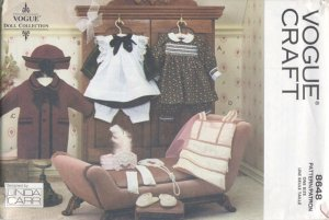 Doll Wardrobe, 1920 Style, Vogue Craft 8648 NEW