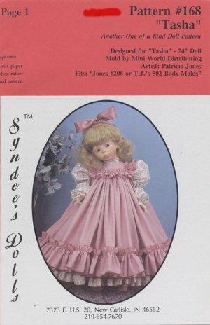 Tasha dress pattern for 24� porcelain doll, Syndee�s Dolls, 168 NEW
